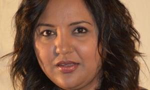 Zainub Priya Dala. Three men called her 'Rushdie's bitch', put a knife to her throat and broke her cheekbone with a brick last month.