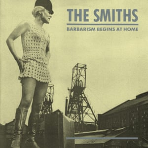 Viv Nicholson on the cover of Barbarism Begins at Home by the Smiths