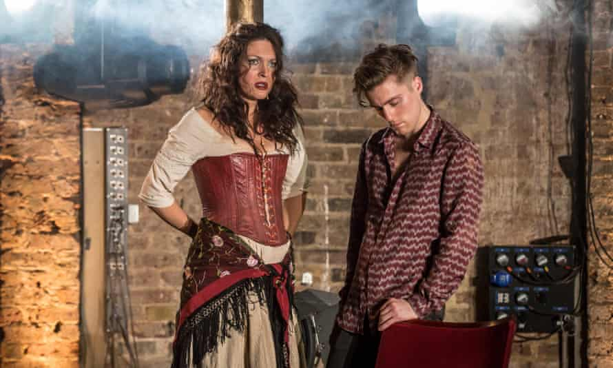 'I wanted to tell the story of an opera singer who was starting to lose any sense of where she ended and the opera began.' Viktoria Vizin (the Chorus) and Jack Farthing as Carmen in Carmen Disruption at the Almeida theatre.