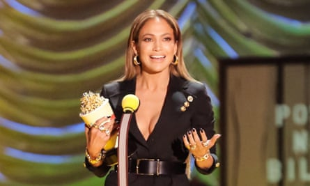 Jennifer Lopez: recipient of a lap dance at the MTV Movie awards.