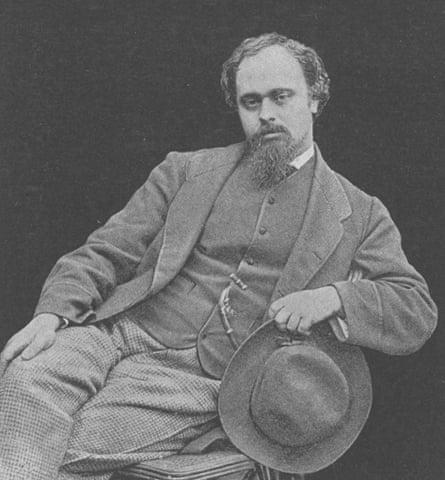 Dante Gabriel Rossetti (1828-1882) in a photograph taken by Lewis Carroll.