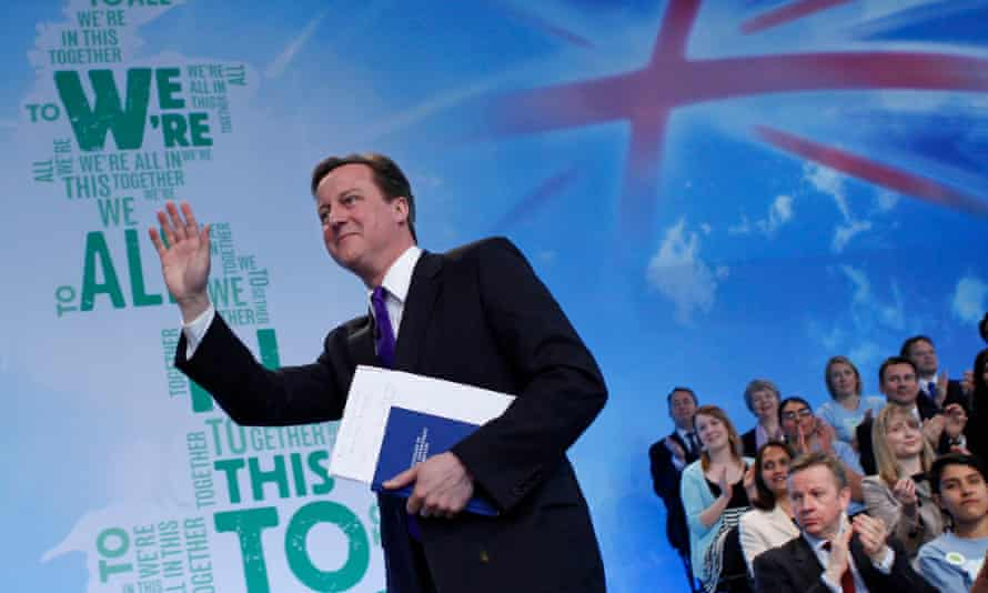 David Cameron launches the Conservative party's manifesto before the last election in 2010.