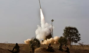 An Iron Dome launcher fires an interceptor rocket near the southern city of Beersheba in 2012