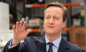 The prime minister, David Cameron, who will launch the Conservative election manifesto with a right to buy scheme on housing association homes.