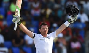 English batsman Ian Bell celebrates scoring his century in St John's, Antigua.