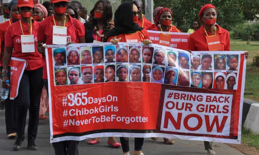 One year anniversary Nigerian schoolgirls