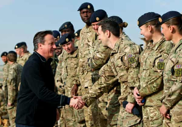 Soldiers Afghanistan David Cameron