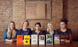 The Baileys Women's Prize for Fiction judges with the 2015 shortlisted titles.