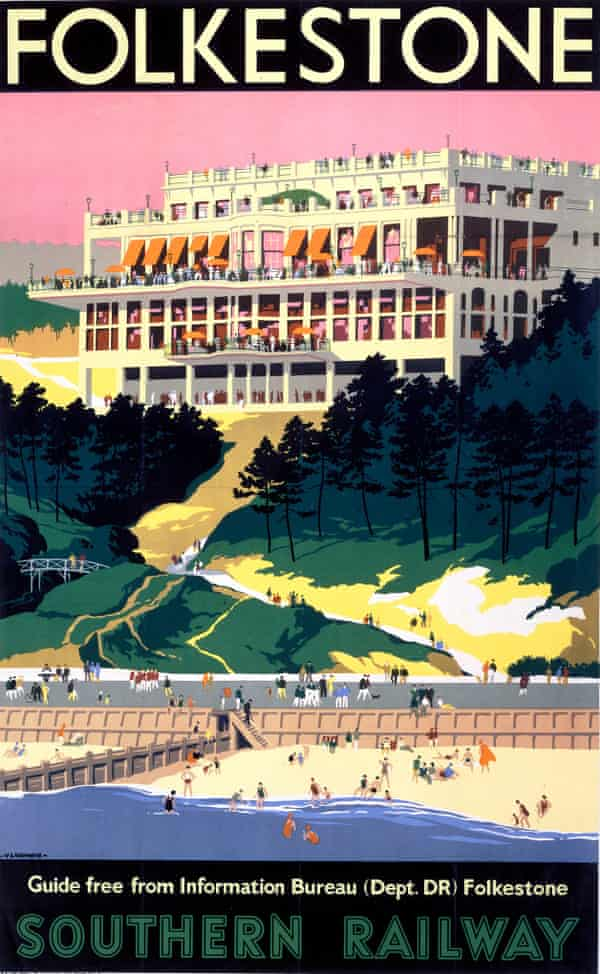 A poster from an earlier age, promoting rail travel to Folkestone.