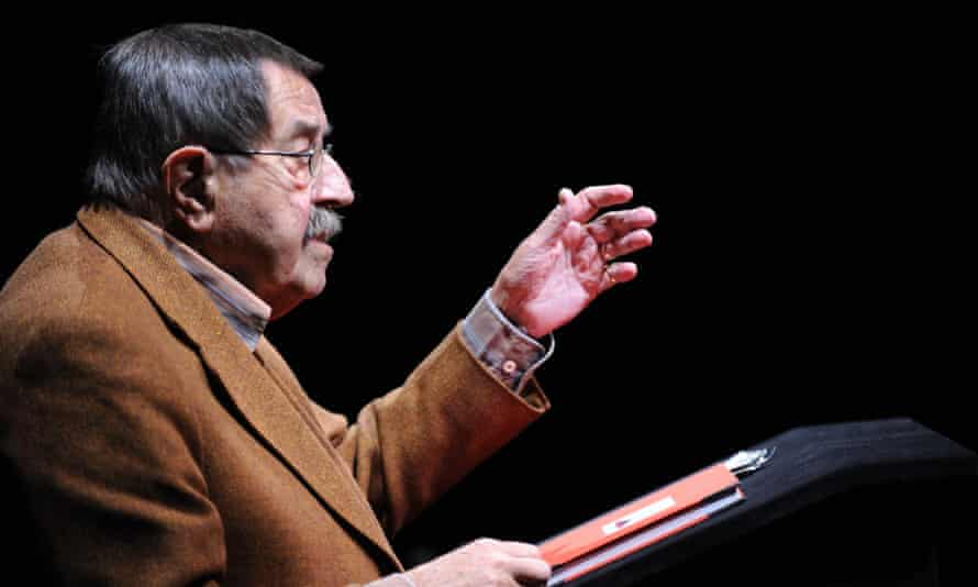 Günter Grass reads from a book of his poems at an event in Goettingen, Germany, in October 2012.