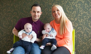 Marc and Nikki Tibballs with their twins