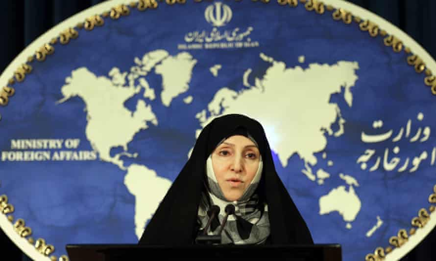 Iran's foreign ministry spokeswoman, Marzieh Afkham. Afkham is a veteran of Iran's diplomatic service, having served as a ministerial aide and later as head of its public relations department.