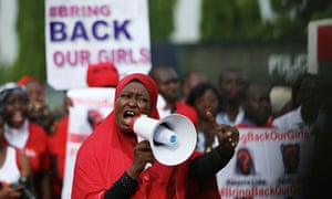 Protesters for the 'Bring Back Our Girls' campaign in Abuja, Nigeria