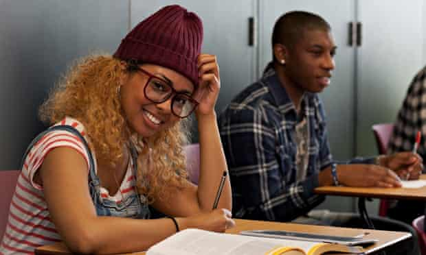Student in hat and glasses