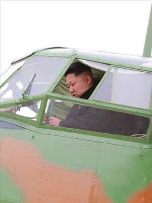 Kim Jong-un conducts takeoff and landing tests of a light aircraft at a military machine plant in North Korea