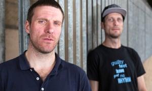 Jason Williamson (left) of Sleaford Mods.