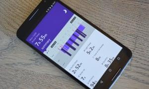 Microsoft Health app on a Nexus 6