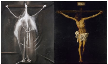 Crucifixion, by Francis Bacon, 1933, with The Crucifixion, by Alonso Cano, 1601