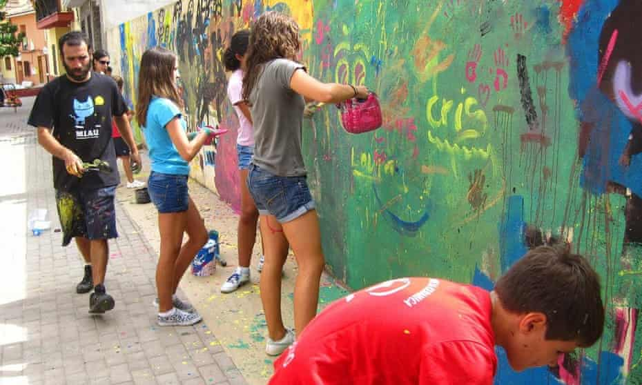 Graffiti has turned the small Spanish village of Fanzara into a open air gallery.