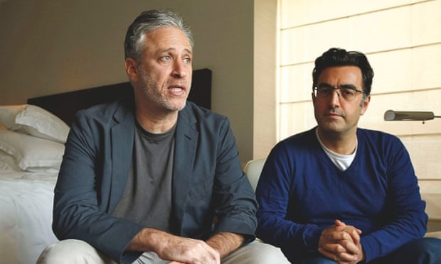 With Maziar Bahari, the Iranian-born journalist imprisoned by Tehran for filming the 2009 anti-government protests.