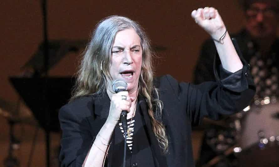 Patti Smith performing in 2014
