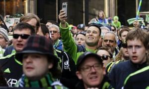 Seattle Sounders fan march