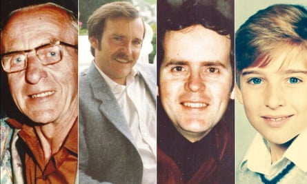 From left: Eddie Fletcher, John Fletcher, Peter Fletcher and Andrew Fletcher, all members of Martin Fletcher's family, were killed in the Valley Parade disaster.