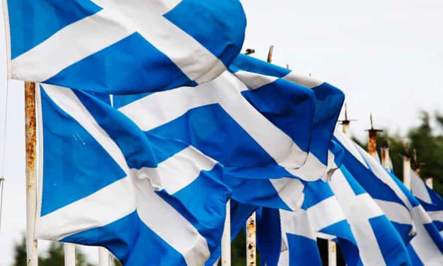 Scottish flags.