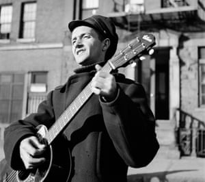 Open road … Woody Guthrie travels to New York City.