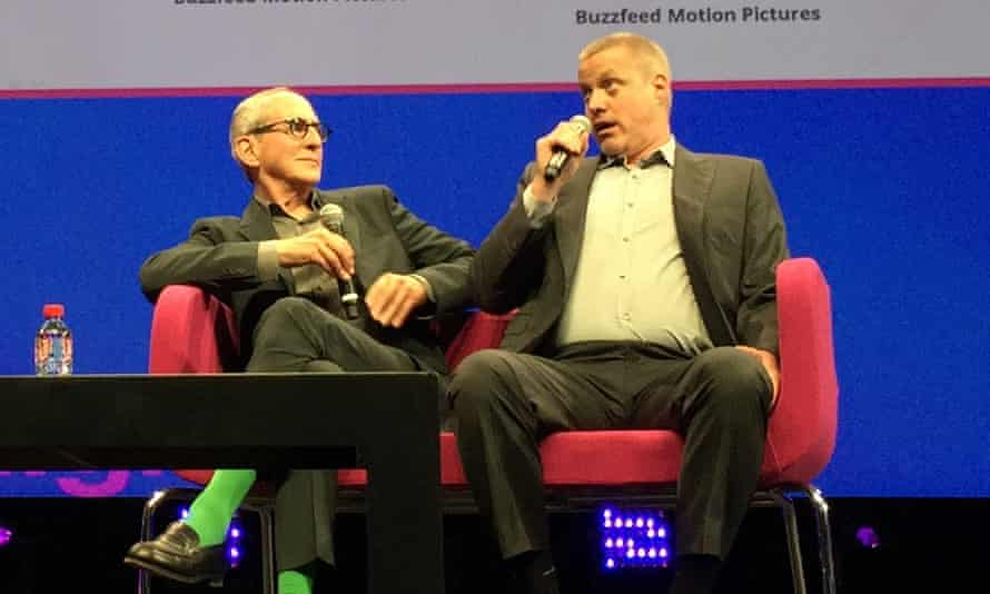 Michael Shamberg and Ze Frank of BuzzFeed Motion Pictures at MIPTV.