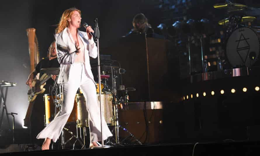 Florence Welch performs at the 2015 Coachella festival.