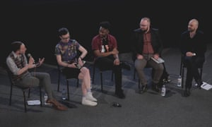 Panel from Songs for Alexis event l-r Charlie Phillips, Felix Lane, CJ Bruce, Octavian Starr and Jay Stewart