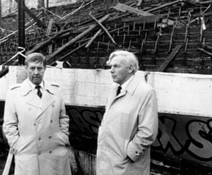 Stafford Heginbotham, left, with Mr Justice Popplewell, at Valley Parade.