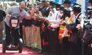 segway on red carpet for paul blart movie