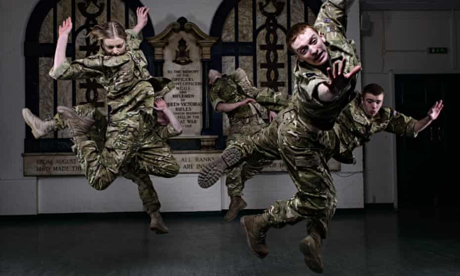 5 Soldiers dance production by the Rosie Kay Dance Company