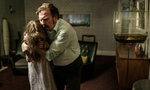 Timothy Spall as Maurice Grosse with Eleanor Worthington Cox as Janet Hodgson in The Enfield Haunting.