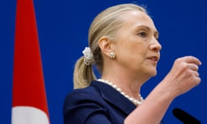 Hillary Clinton in 2012, complete with scrunchie