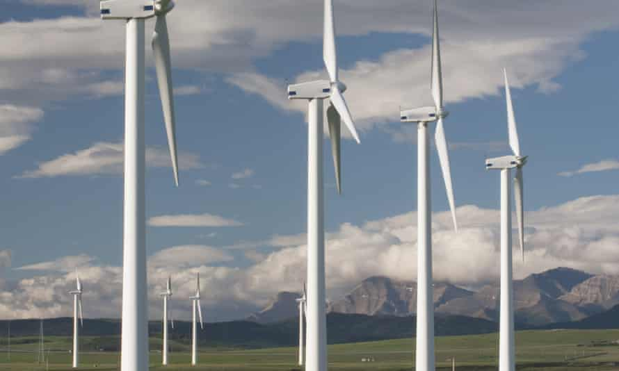A wind farm in southern Alberta, Canada. A new report says the country should exploits its renewable energy resource to cut emissions.