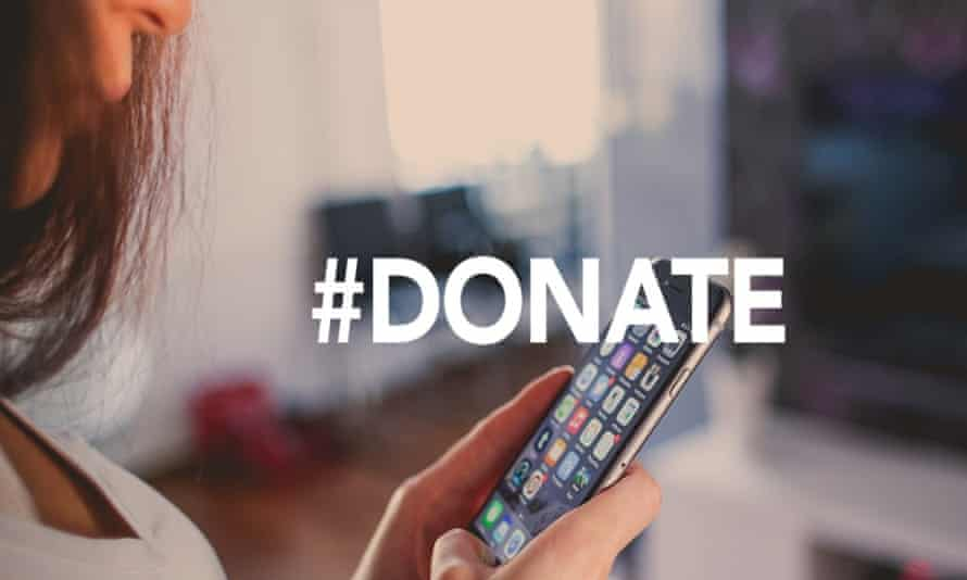 #Donate sign