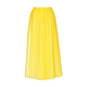 Minion Yellow - pleated yellow midi skirt by lk bennett