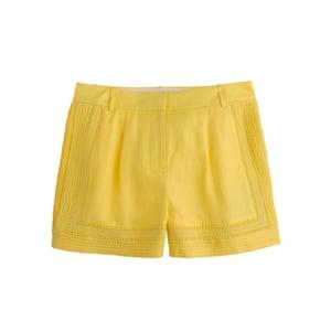 Minion Yellow - yellow lace trim hot pant shorts by J Crew