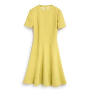 Minion Yellow - yellow half sleeve flared tea dress by Hobbs