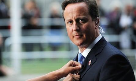 David Cameron at the 2012 Paralympics.