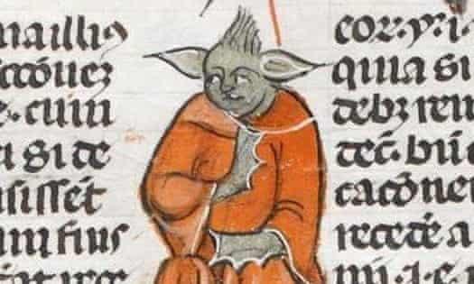 Pre-1600 yoda lookalike found on Medieval manuscripts