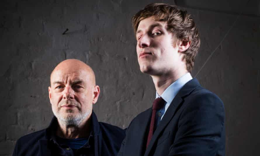 Friends are electric: Brian Eno with William Doyle (AKA. East India Youth) at his West London studio.