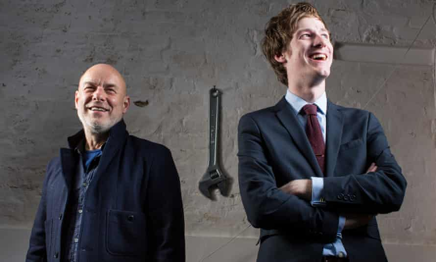Star-wrangled spanner: Boyd is blissfully unaware of Eno's outsized tool.