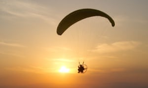 Paragliding over Gemiler Cove in Turkey