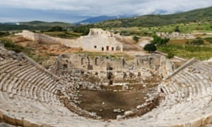 View of Roman theatre in Patara, Turkey