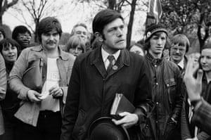 Stuart Wheeler, born-again Christian and ex-convict, May 1977