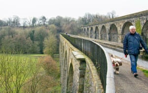 Chirk, Wrexham 'Thomas Telford's aqueduct and the viaduct behind span the Ceiriog Valley, providing a boundary between England and Wales.' (Gill Stafford)